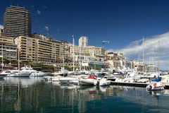Monaco harbor Stock Photography