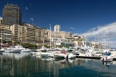 Monaco harbor stock photography