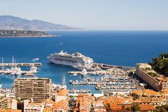 Monaco harbour - 2. View of Monaco harbour, Monte Carlo Stock Image
