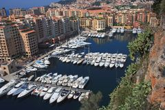Monaco harbour Stock Images