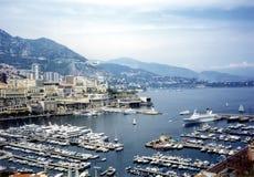 Monaco harbour. Harbour in Monaco - French riviera stock photo
