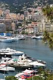 Monaco harbour along the Riviera, Mediterranean Stock Image