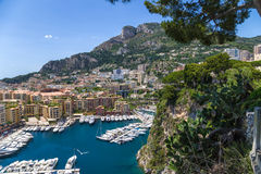Monaco. Harbour of Fontvieille. Fontvieille is the newest of the four traditional quarters (districts) in the principality of Monaco, and one of ten Wards for Stock Photography