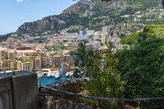 Monaco. Harbour of Fontvieille. Fontvieille is the newest of the four traditional quarters (districts) in the principality of Monaco, and one of ten Wards for Stock Photo