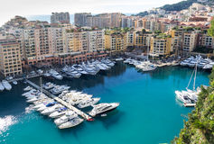 Monaco harbour Royalty Free Stock Images