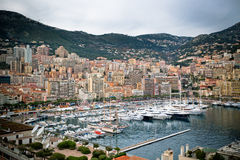 Monaco Harbour, Monte Carlo, view Royalty Free Stock Photography