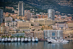 Monaco Harbour, Monte Carlo, view Stock Photos