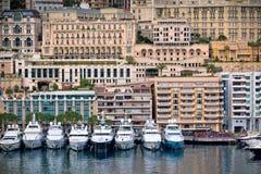 Monaco Harbour, Monte Carlo, view Stock Image