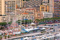 Monaco Harbour, Monte Carlo, view Royalty Free Stock Images