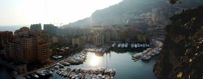Monaco harbour panorama Stock Photography