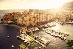 Monaco harbour Stock Photo