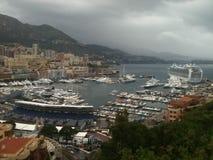 Monaco Harbour royalty free stock photo