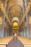 Monaco helgon Nicholas Cathedral Interior Royaltyfri Foto