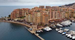 Monaco - het district van Architectuurfontvieille Royalty-vrije Stock Fotografie