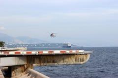 Monaco-Hubschrauber-Landeplatz Stockfoto