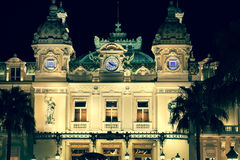 Monaco, Italy,August 10, 2013: Casino in Monaco. Night landscape Stock Images