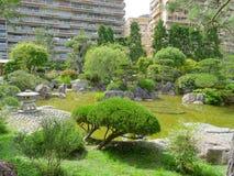 Monaco - Japanese garden royalty free stock image