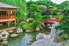 Monaco. Japanese garden in Monte Carlo, Monaco stock image