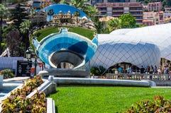 Monaco-Kasino-Spiegel-Teller Lizenzfreies Stockbild