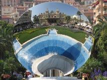 Monaco kasinoreflexion Arkivbilder