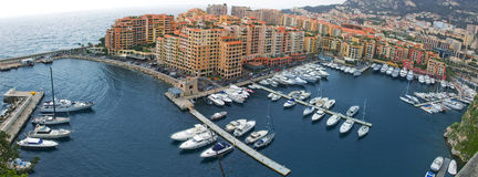 Monaco from King garden Royalty Free Stock Images