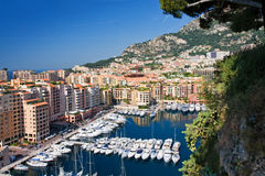 Monaco. La condamine with luxury yachts, monaco Royalty Free Stock Photography