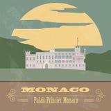 Monaco landmarks. Retro styled image Stock Image