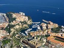 Monaco, Luftaufnahme von Fontvieille lizenzfreies stockbild