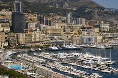 Monaco and marina. Royalty Free Stock Images