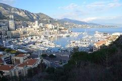 Monaco Marina Arkivfoto