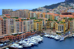 Monaco Marina bay view Stock Images
