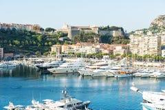 Monaco. Mediterranean Sea landscape. French riviera Royalty Free Stock Image