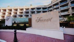 Monaco miasto Monte, Carlo grodzki - dnia czasu hotel zbiory wideo