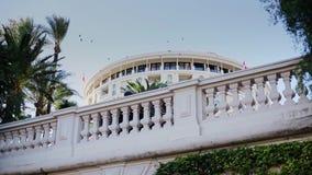 Monaco miasto Monte, Carlo grodzki - uliczny palmowy słoneczny dzień zbiory wideo