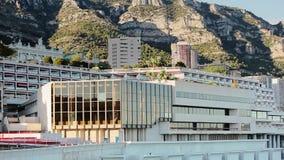 Monaco miasto Monte, Carlo grodzki - uliczny palmowy słoneczny dzień zbiory