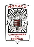 Monaco military coat of arms Royalty Free Stock Photos