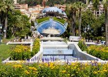 Monaco. The mirror in front of casino Monte Carlo. Royalty Free Stock Image