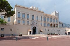 Prince`s Palace of Monaco. View of Prince`s Palace - is official residence the prince of Monaco stock image