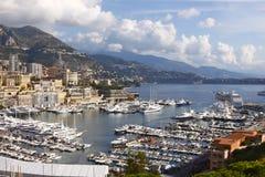 Monaco, Monte Carlo. Monaco, Monte-Carlo aerial view royalty free stock images