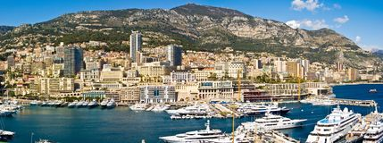 Monaco Monte Carlo. Panoramic view of Monte Carlo, Monaco stock photo