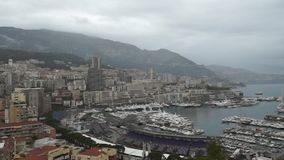 Monaco- - Monte Carlo-Ansicht stock video footage