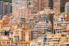 Monaco, Monte Carlo Architecture Background. Many Houses, Buildings Stock Photography