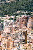 Monaco, Monte Carlo architecture background. Many houses Stock Image