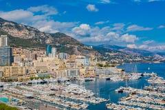 Monaco Monte Carlo city marina Royalty Free Stock Photo