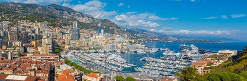 Monaco Monte Carlo city panorama Royalty Free Stock Images
