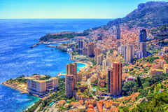 Monaco and Monte Carlo, Cote d`Azur, Europe Royalty Free Stock Photo