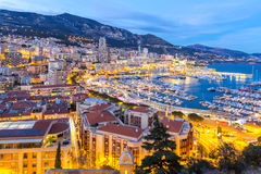 Monaco Monte Carlo harbour Stock Image