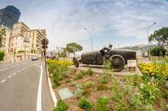 MONACO, 22, 2013: MONTE Carlo, LIPIEC - Widok miasto Monteca Zdjęcie Stock