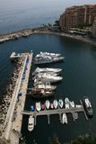 Monaco Monte Carlo Marina Yachting Bay view Royalty Free Stock Photos