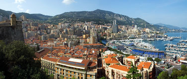 Monaco - Monte Carlo panorama Arkivfoton